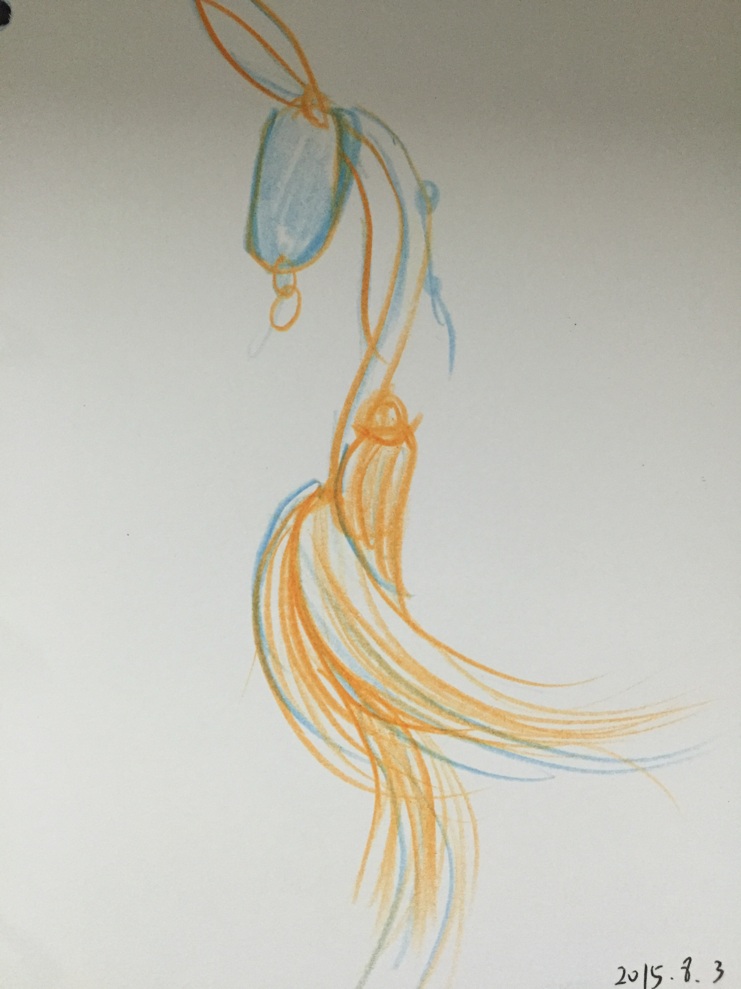 手绘彩铅服装设计图展示