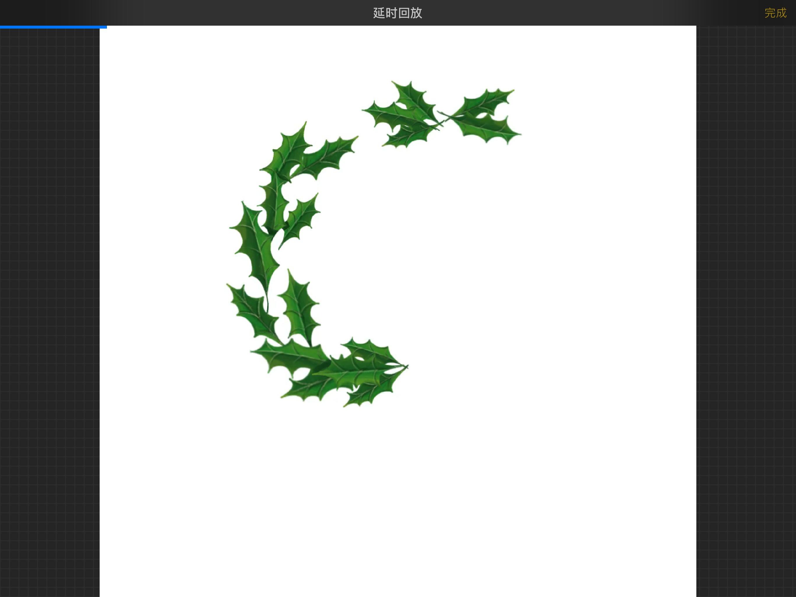 用ipadpro+applepencil绘制圣诞花环礼记说课稿图片