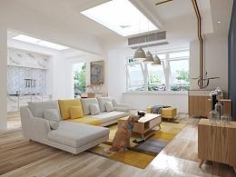 用C4D 进行的室内家具建模渲染。学习用= =!