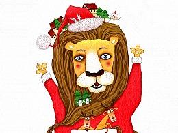 圣诞元素插画第一辑