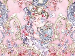新作待售,原创Lolita柄图设计