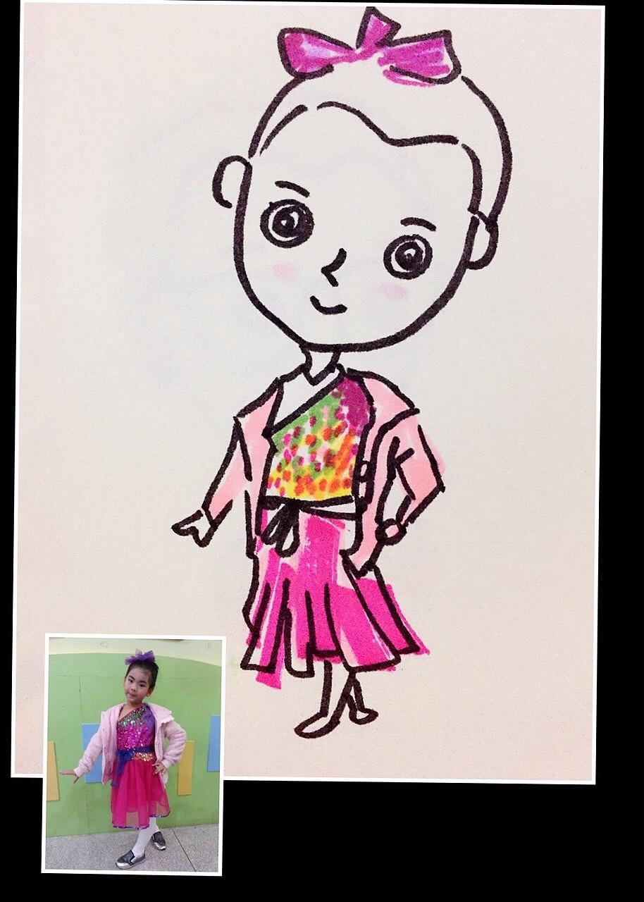儿童手绘服装涂鸦简单