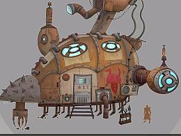 蒸汽朋克单体建筑