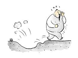 漫画:在哪里跌倒,把哪里砸个坑