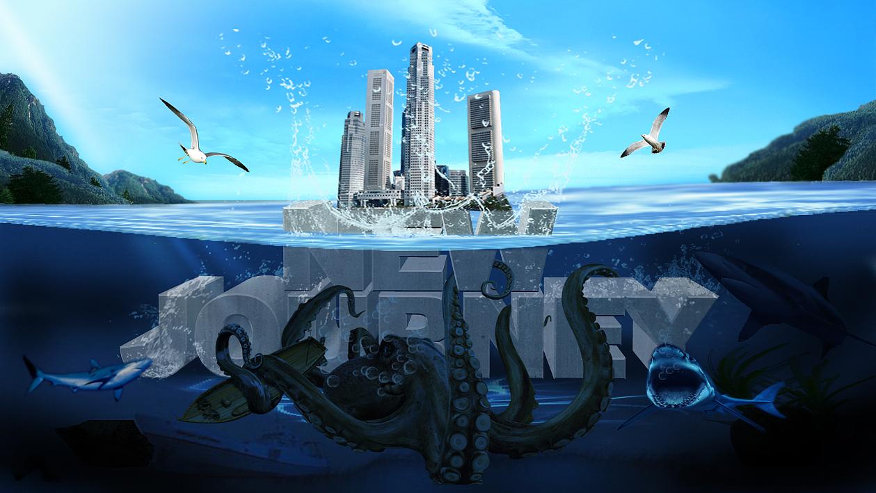 海底城市创意海报设计