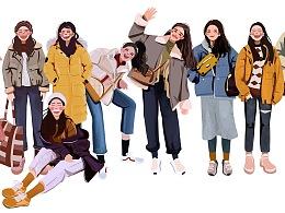 1月Cool girls插画合集