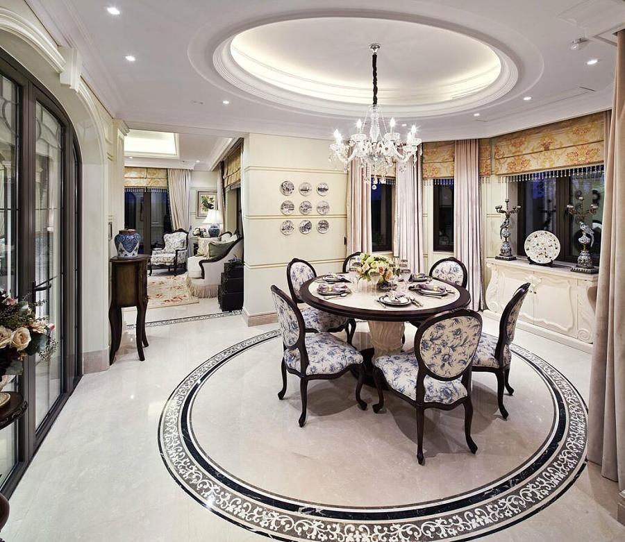 水城东营庄园别墅装修,一生所爱的欧式奢华户型图庭院式别墅空间四合院