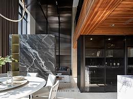 客餐厅挑空现代轻奢二层复式大宅
