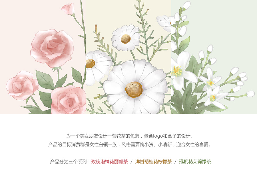 花茶手绘包装设计