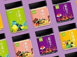 鲜果漾 快消品干果品牌包装设计