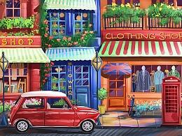 彩色城市系列-伦敦