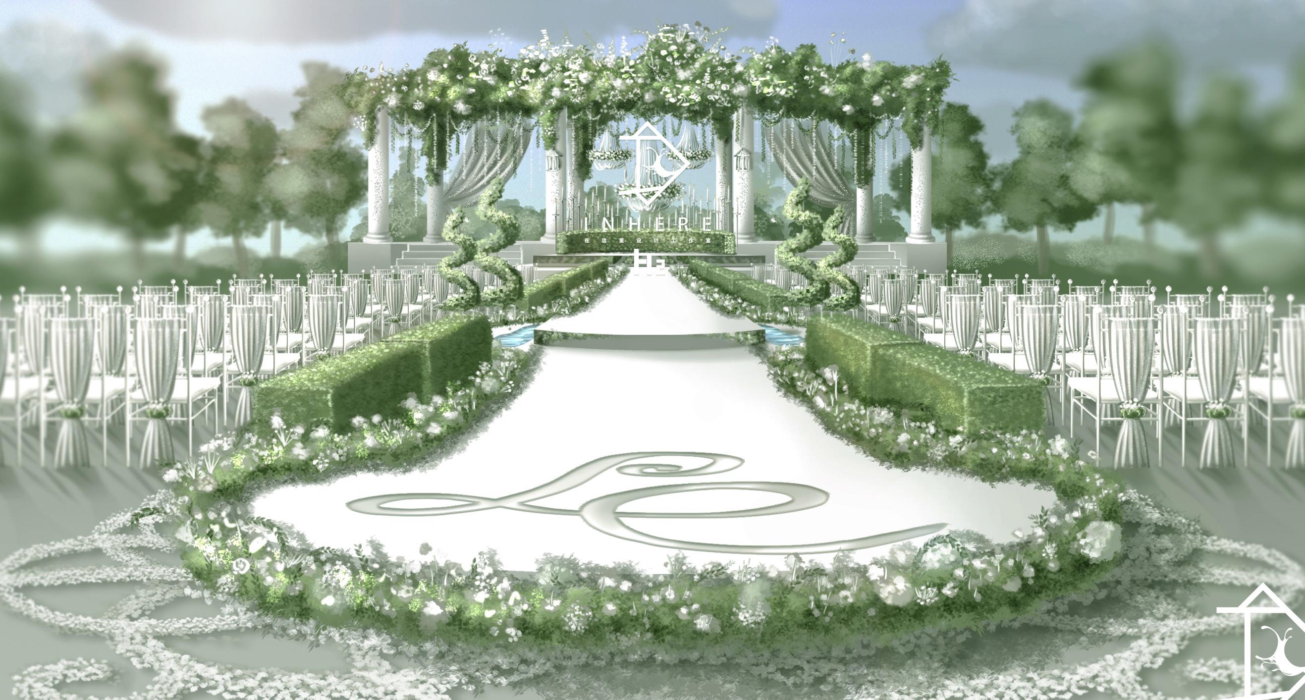 婚礼效果图 手绘