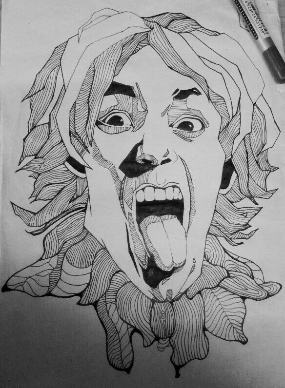 针管笔手绘