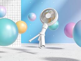 c4d & OC 小风扇产品视频