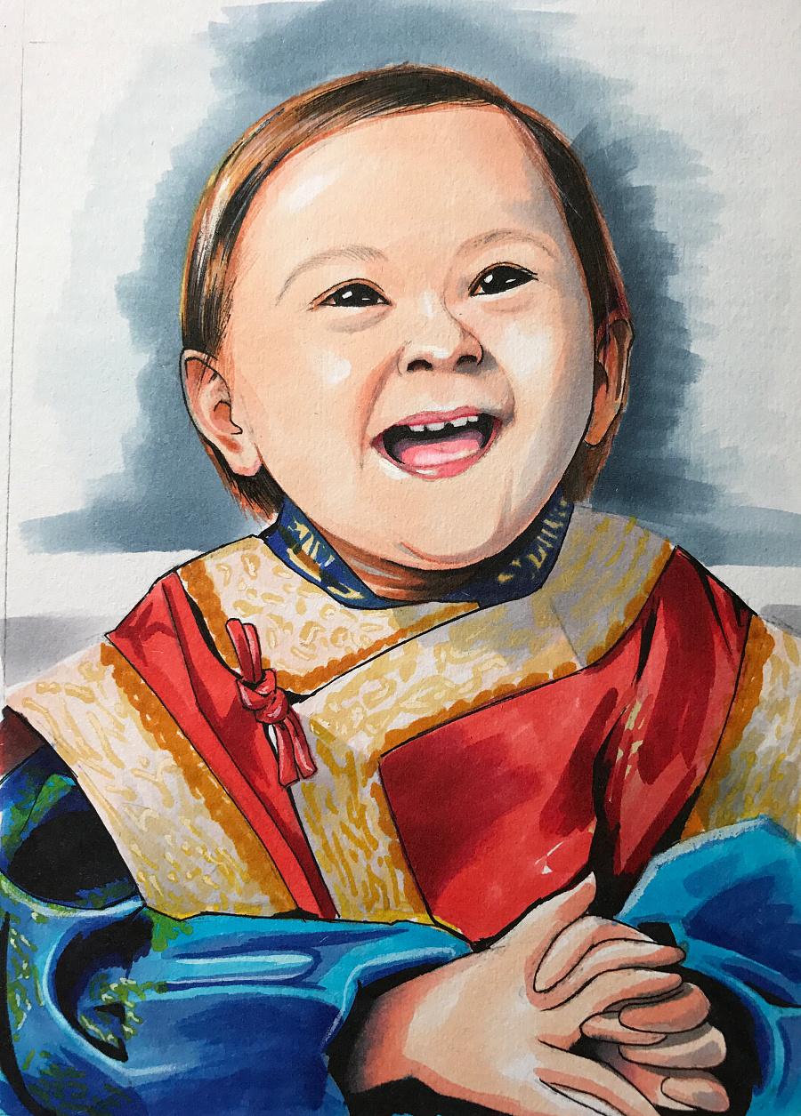 马克笔玩起来!|肖像秋山|漫画|美女丶-画画v肖像铅笔动漫原创漫画图片