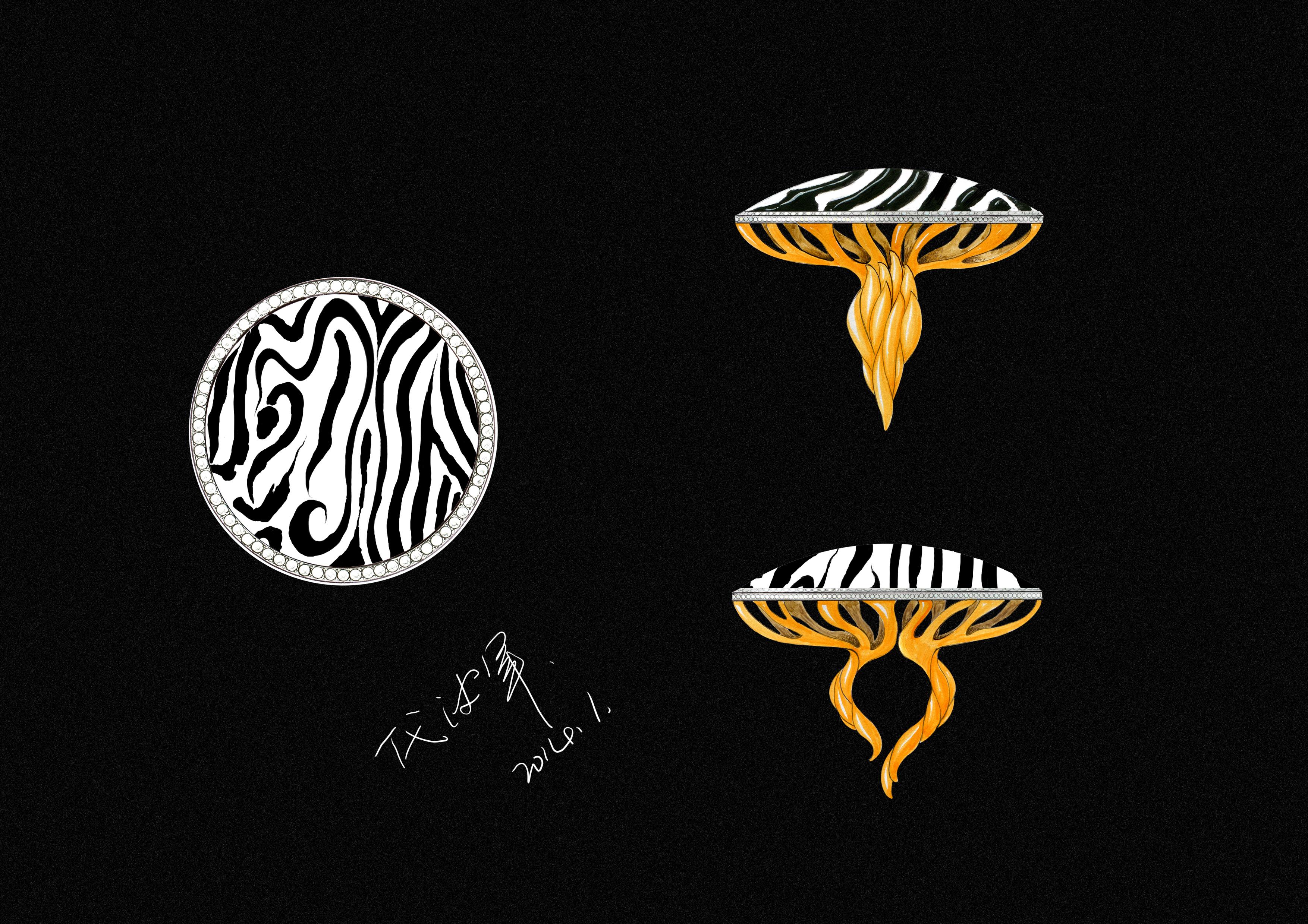 代波军艺术珠宝手绘设计稿! 手工艺 首饰 代波军艺术
