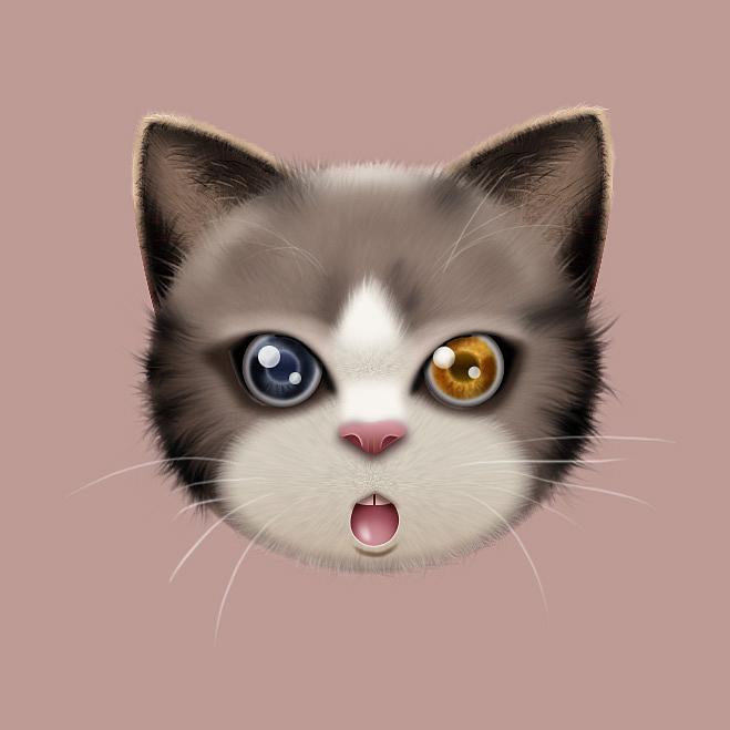 临摹作品,非原创,,我好像把可爱的猫咪画成