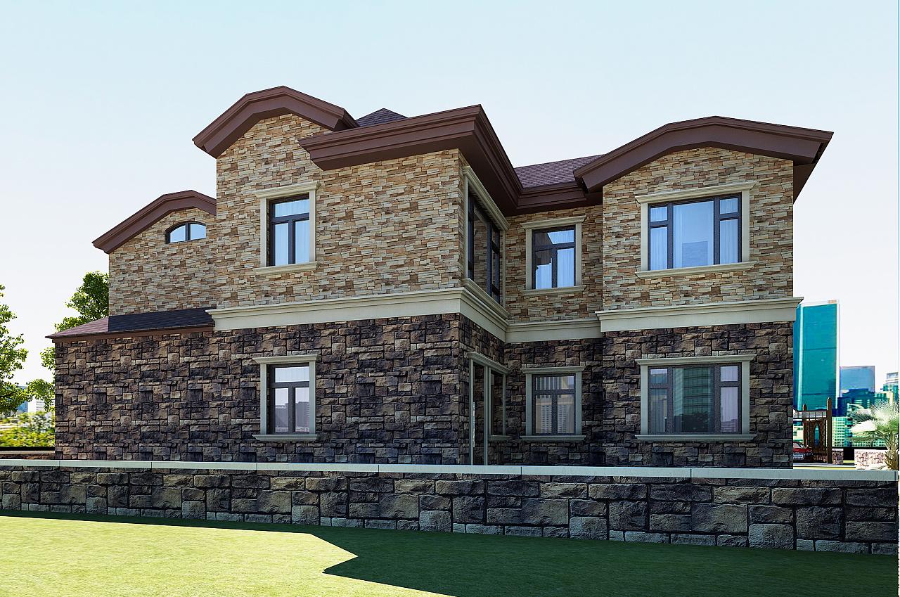 别墅外观设计|空间|建筑设计|kkdkkdkkd - 原创作品图片