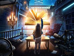 合成海报-书屋迷宫