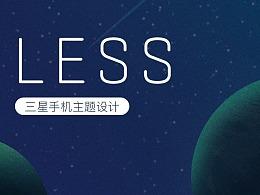 Less——Samsung theme design