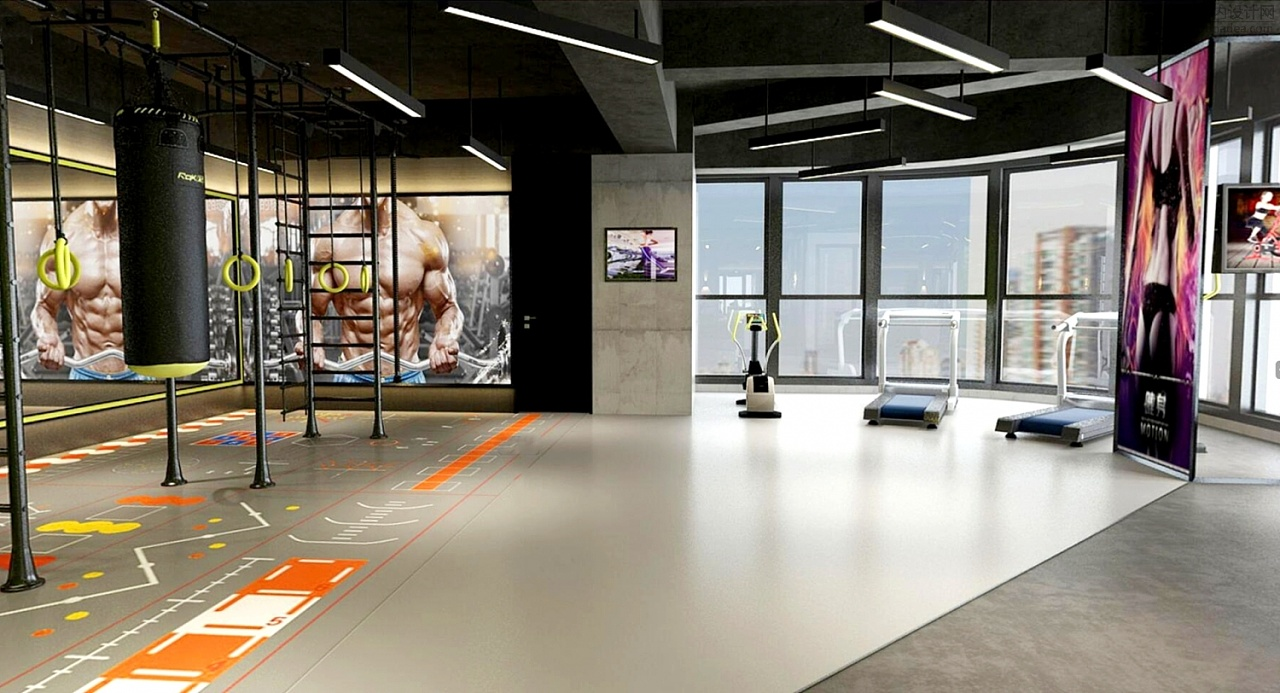 乾誉设计·刘熠作品·LEO健身工作室|空间|室