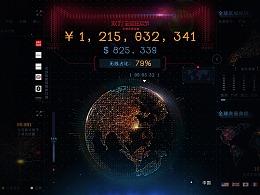 2017年淘宝双十一全球狂欢节电商数据屏
