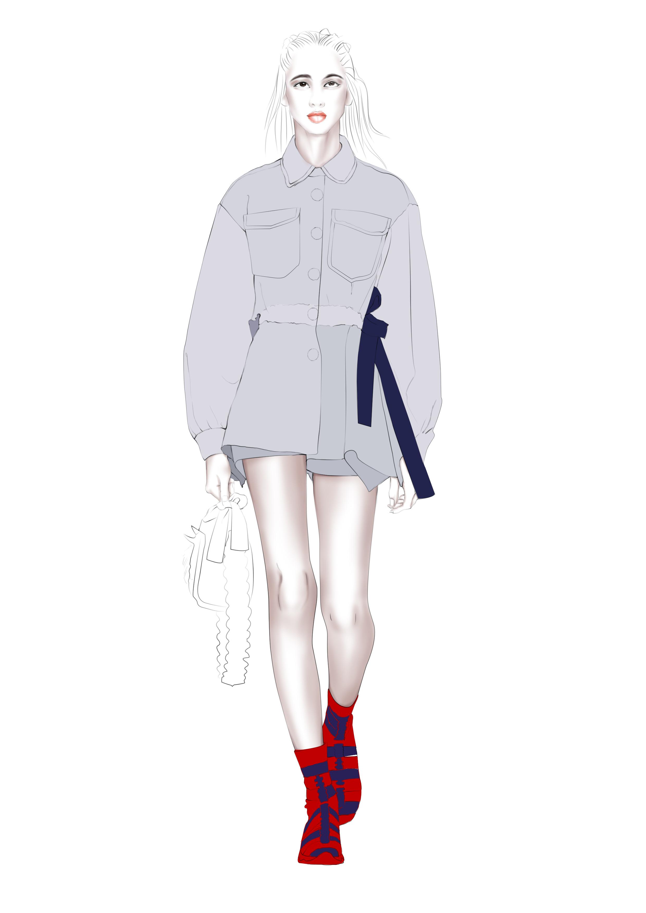 服装�:-+yl>[�~K�>K�_时尚电绘//服装设计效果图绘制步骤分享