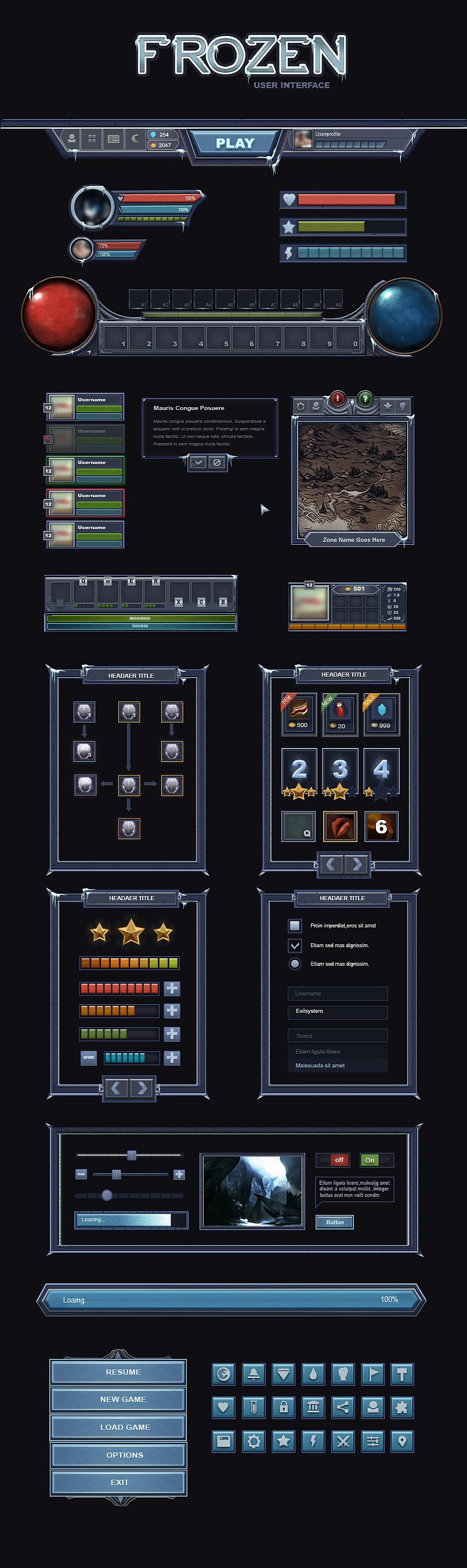 游戏界面 UI 游戏UI QQlucky - 原创作品 - 站酷 (ZCOOL)