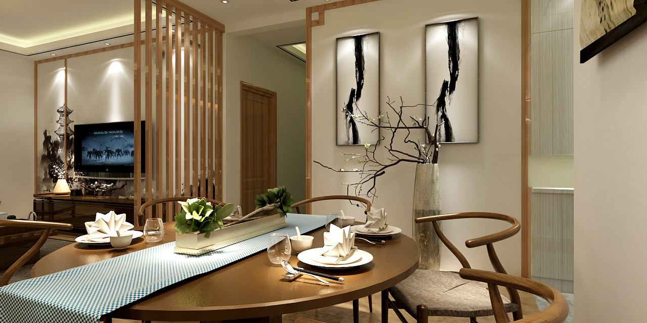 金阳恒大贵阳新世界民族新中式花园装修 特点空间风格包装设计风格图片