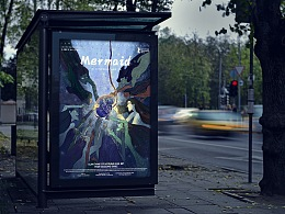 插画 电影海报设计 Mermaid