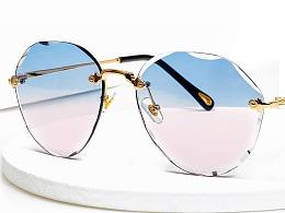 眼镜墨镜产品图拍摄详情设计