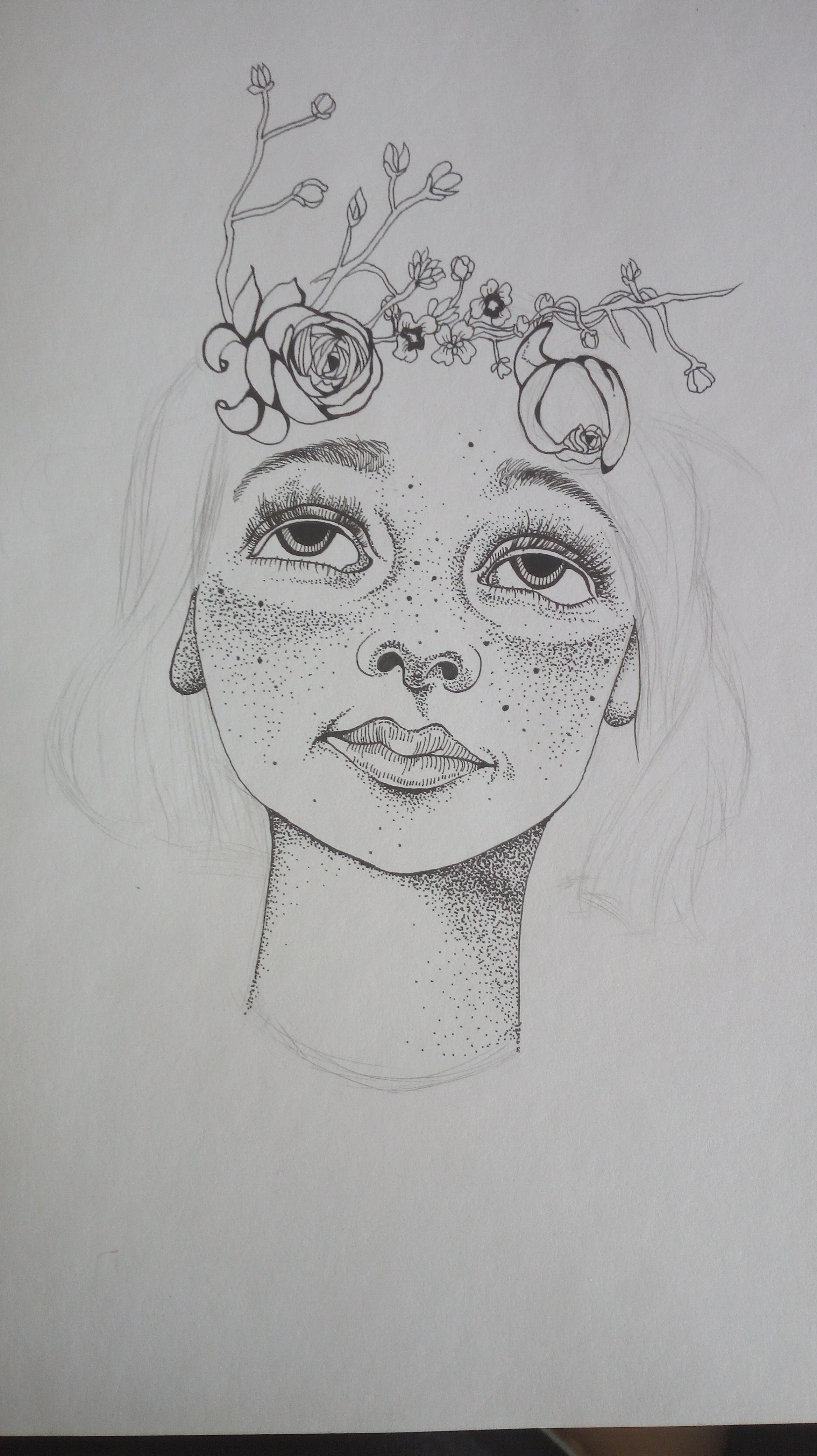 针管笔 手绘