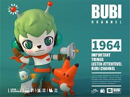 猫王收音机旗下IP潮玩公仔设计ART TOY-BUBI CHANNEL