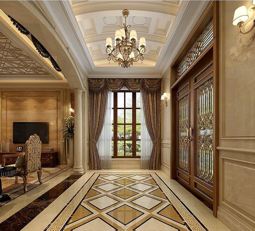 金沙湖高尔夫观邸500平有气质的欧式案例别墅装修阁楼风格好别墅还是好图片