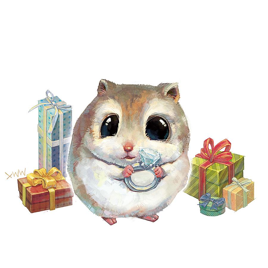 仓鼠漫画萌图片-仓鼠卡通图片-手绘萌图案可爱动物--.
