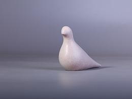 【铜臻-作品】欧式现代家居摆件小白鸽子