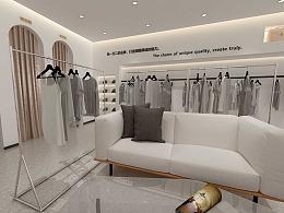 陕西网红轻奢时尚女装服装店设计