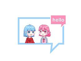 红蓝Q版动漫人物
