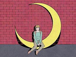日画982~988  嘿,月亮!
