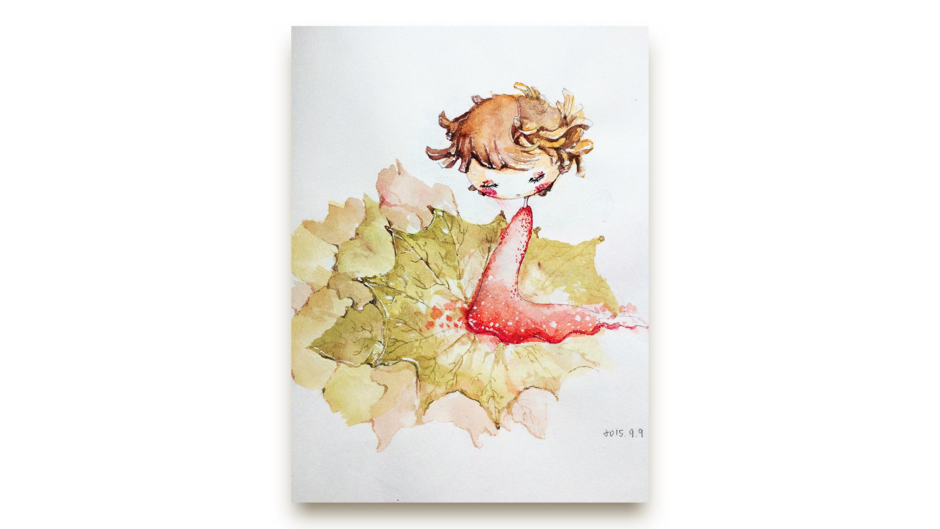 水彩手绘|插画|插画习作|烧麦先生 - 原创作品 - 站酷