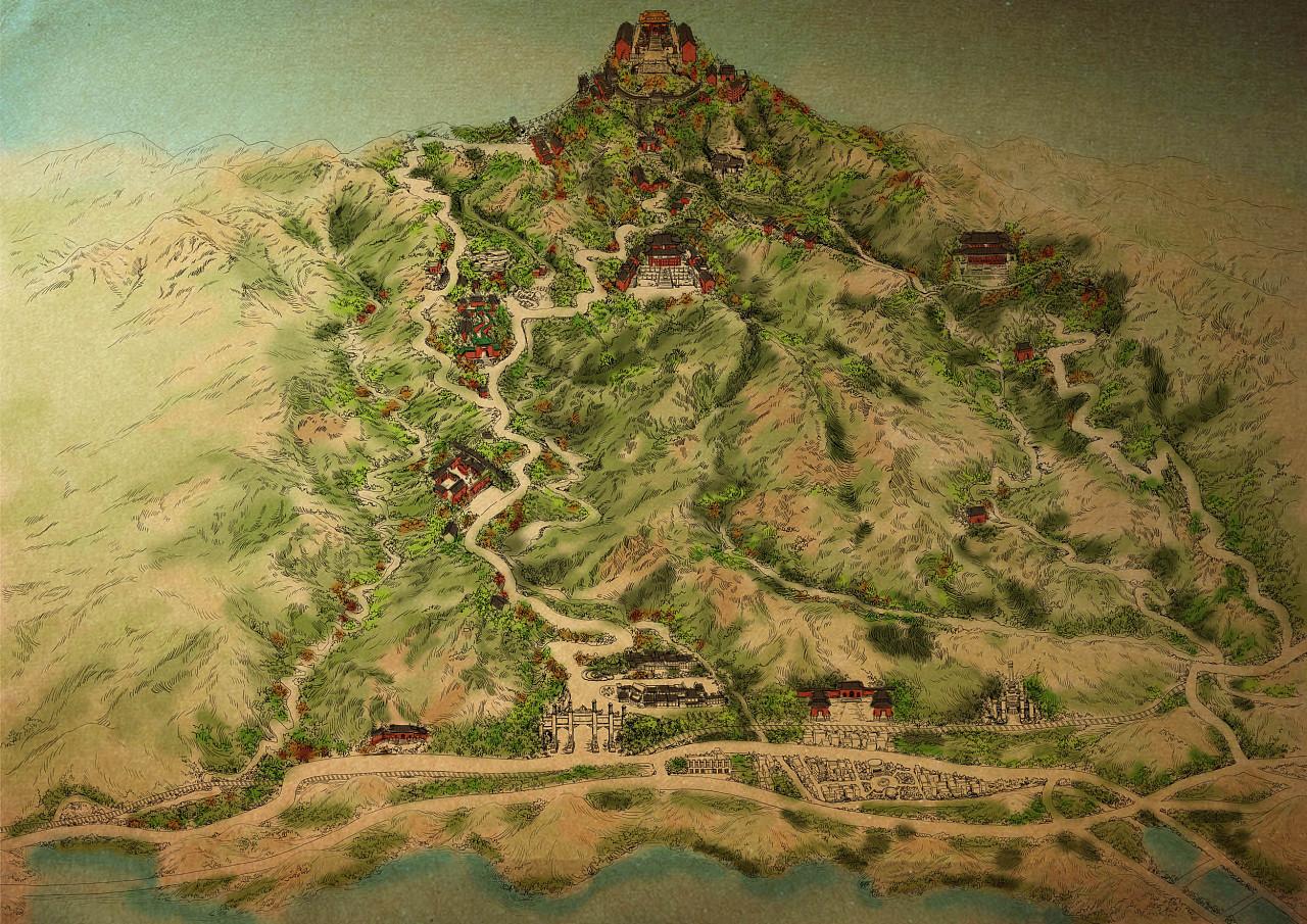 《大美武当》——武当山手绘地图