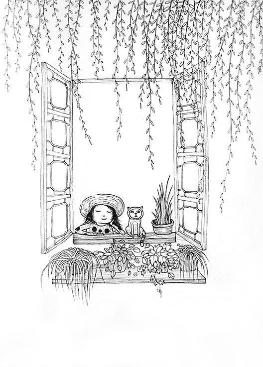 打开窗户,扑面而来的是春天的鸟语花香,呼吸着沁人心脾的空气,满满的图片