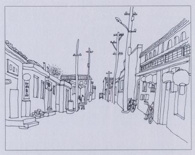 老北京胡同手绘