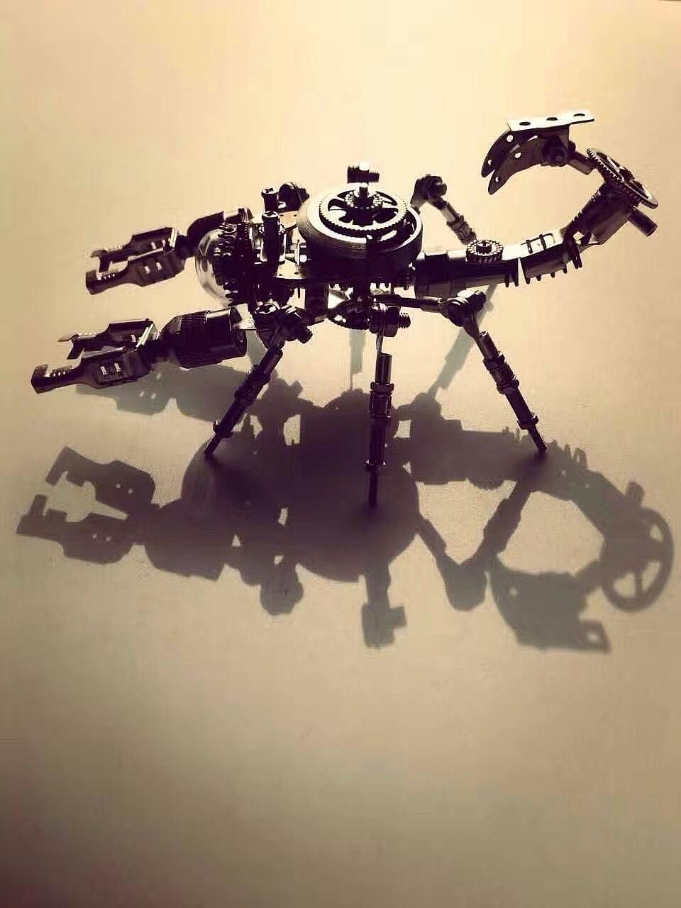 彩泥手工制作蝎子