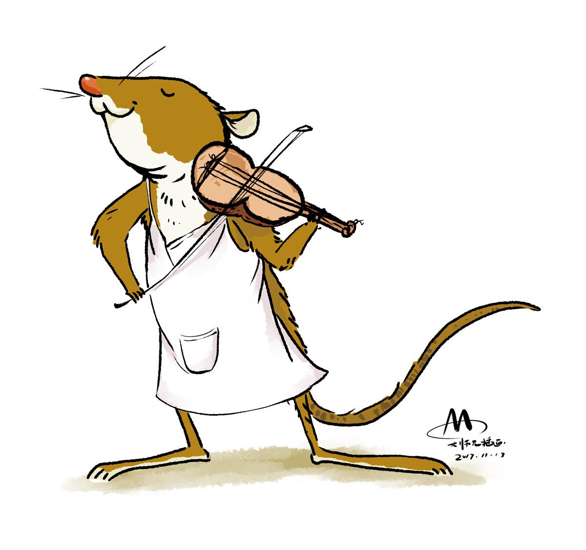 拉小提琴的老鼠