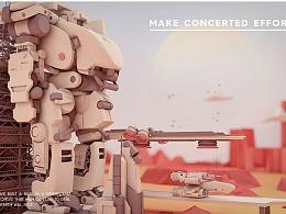 三维c4d机器人