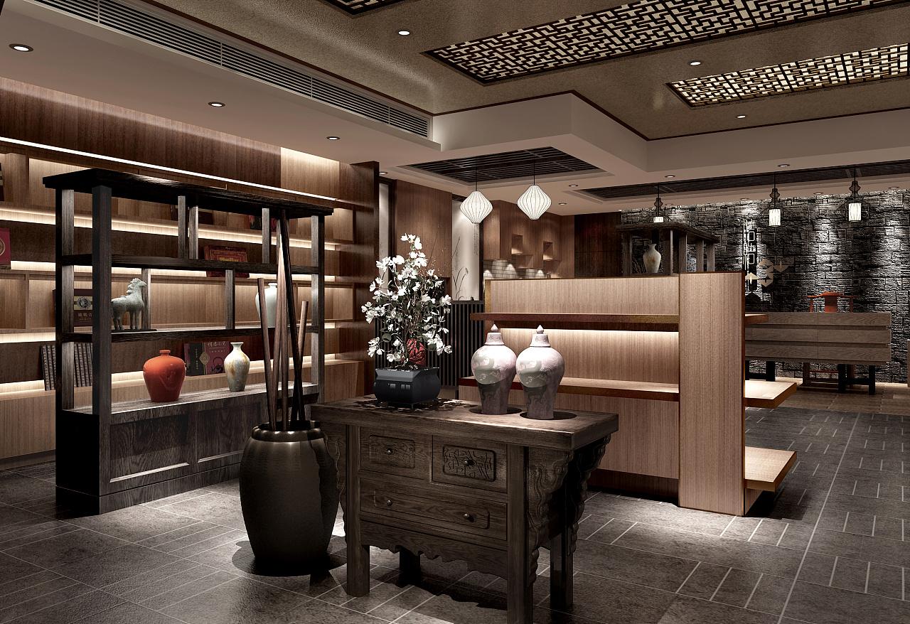 空间类专卖店|茶叶|室内设计|斐恩招聘-原创作绿城建筑设计院设计图片