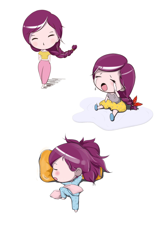 q版漫画人物-胖小妞