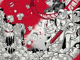 2020冠状病毒公益插画系列(全集)