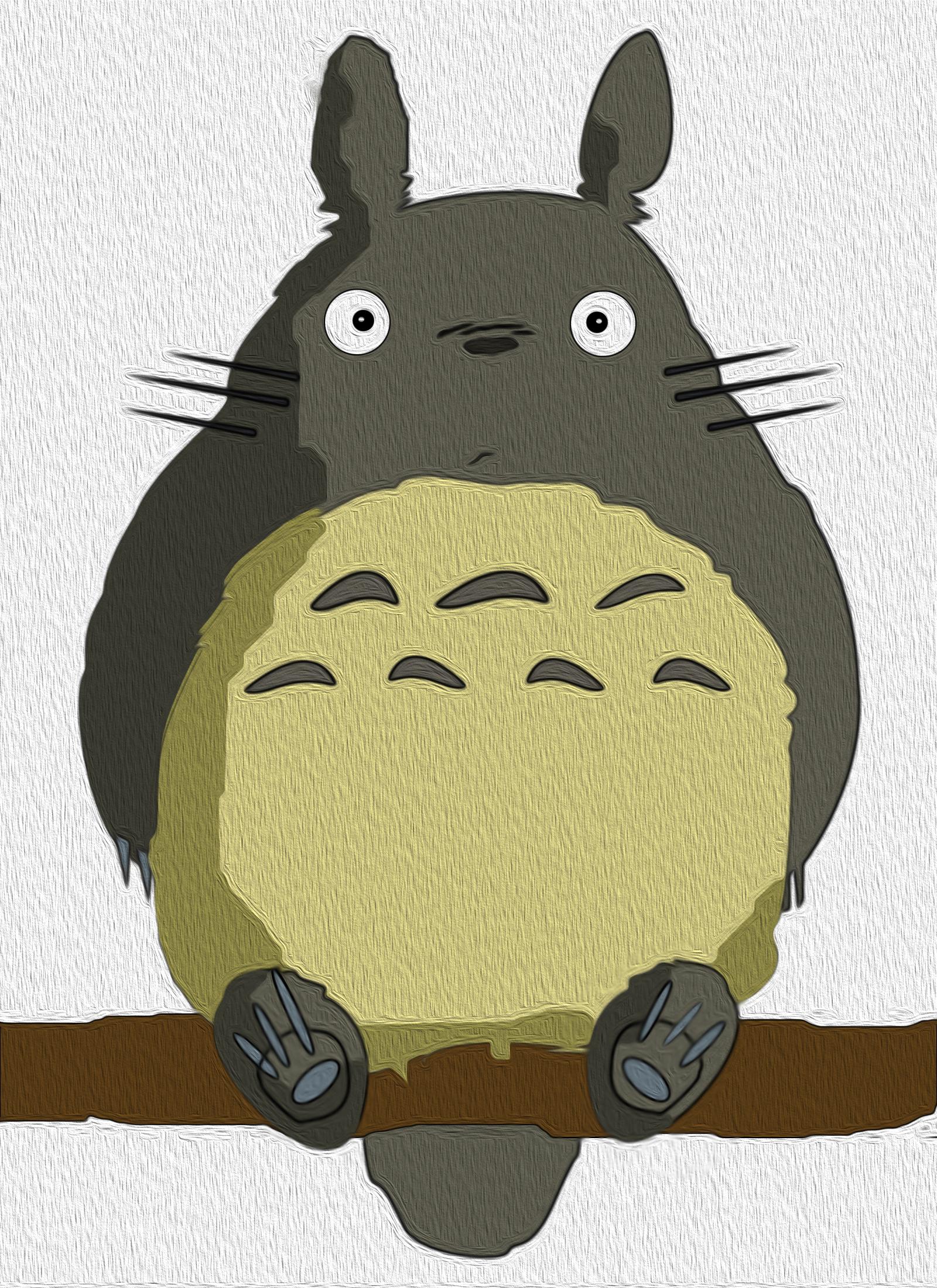 石头手工制作龙猫